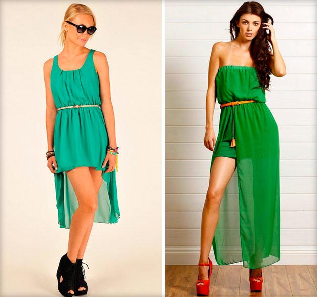 Платья зеленого цвета 2014 фото