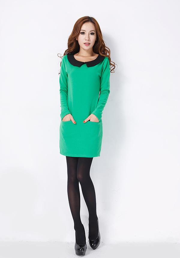Колготки с зеленым платьем фото