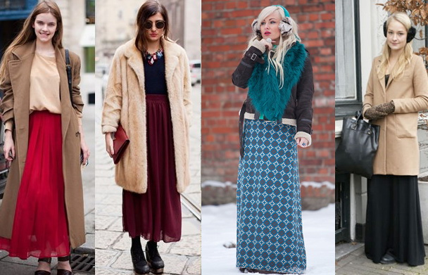 С чем носить длинное платье балахон