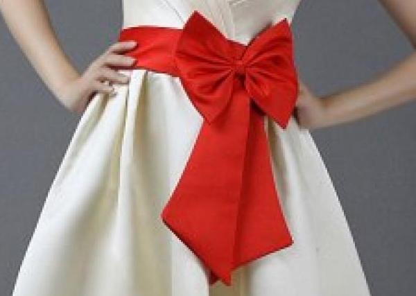 Как завязать красиво длинный пояс на платье пошагово