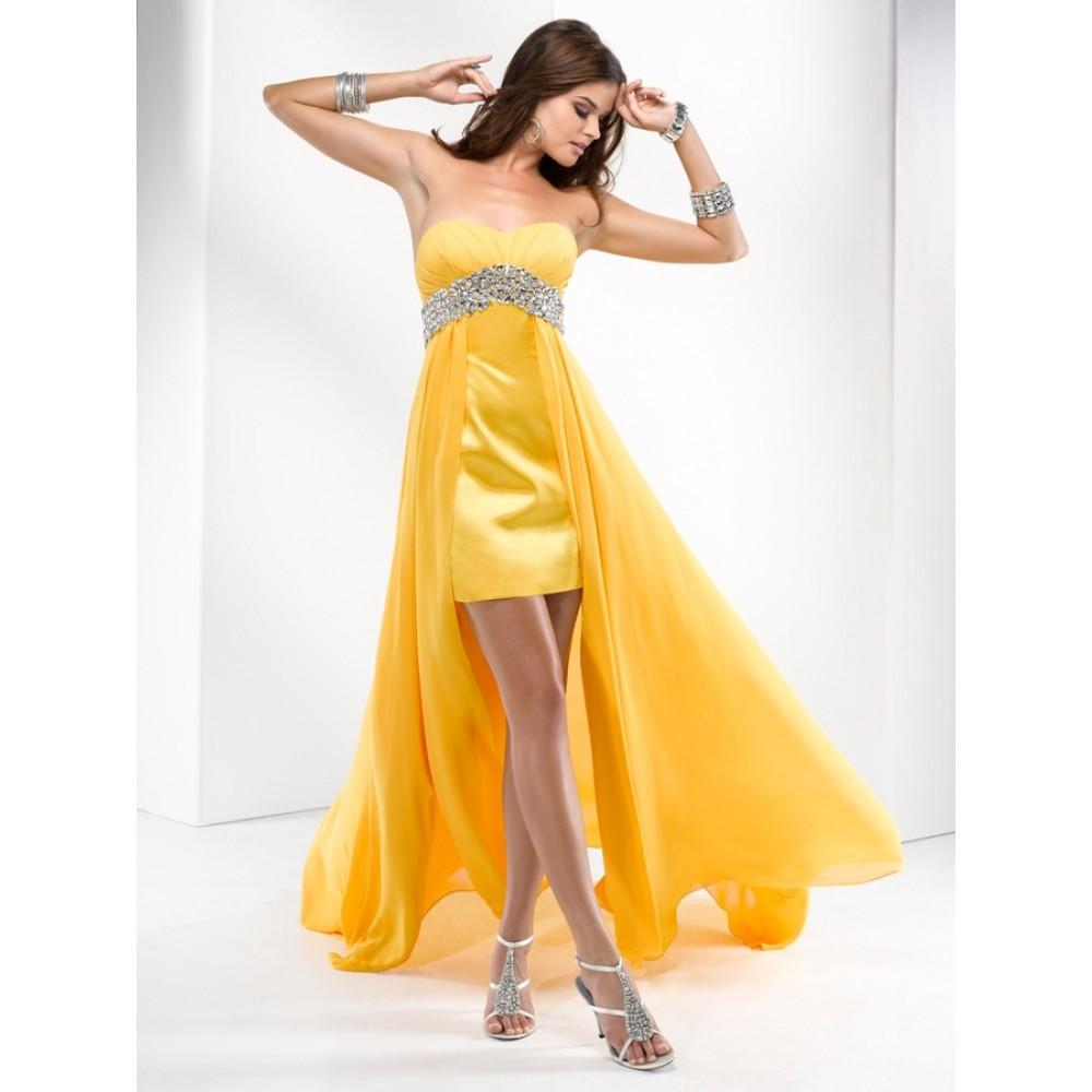 Что подобрать к желтому платью фото