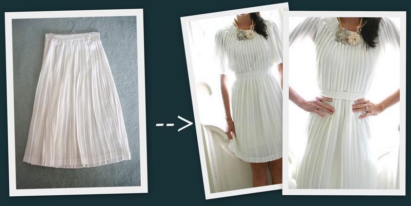 Как из блузки и юбки сшить платье