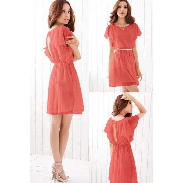 Цвет платья коралловый