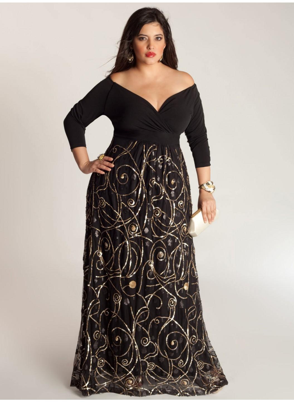 b80d816f3e2b5c8 Вечерние платья в пол для полных девушек: фото женщин | BGFashion