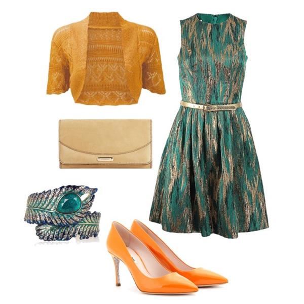Какие ногти сделать к зеленому платью