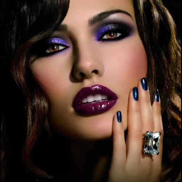 Какой макияж к синему платью 96