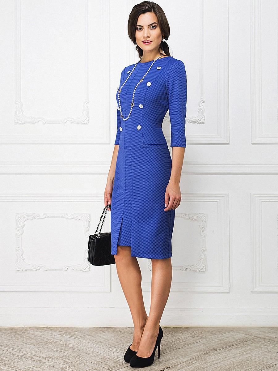 Голубые с черным платьем