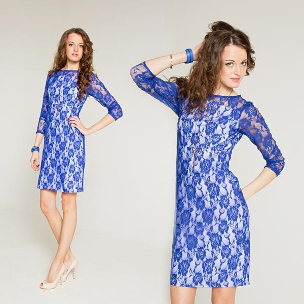 Туфли под кружевное синее платье