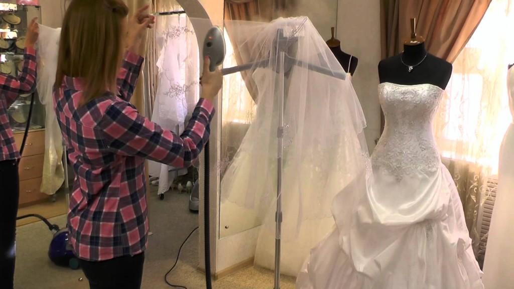 Чем отпарить свадебное платье в домашних условиях