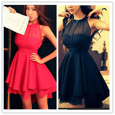 8ef408f37b959a6 Купить шифоновое платье без рукавов на завязках: чёрное, красное | BGFashion
